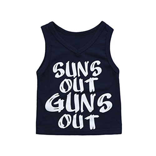 Unisex Vest,OSYARD Cute Newborn Kids Baby Letter Print Suns Out Guns Out Boys Girls Outfits Clothes Shirt Tops