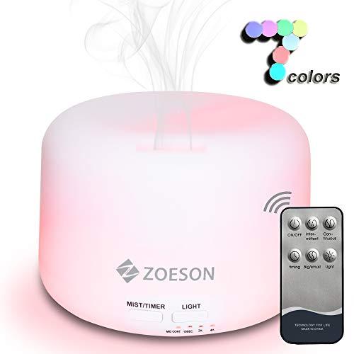 ZOESON Humidificador Aromaterapia Ultrasónico Control