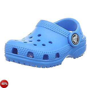 Crocs Classic Clog Kids, Sabot Unisex - bambini, Blu (Ocean), 29/30 EU