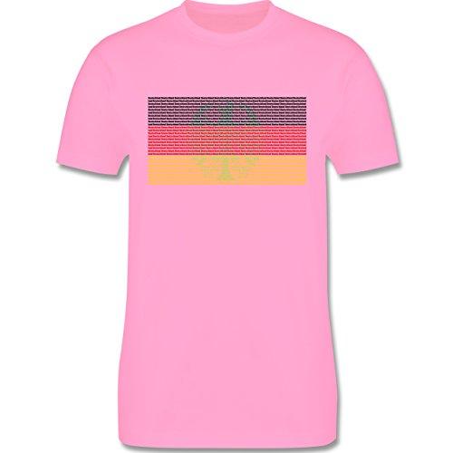 EM 2016 - Frankreich - Deutschland Flagge Schrift - Herren Premium T-Shirt Rosa