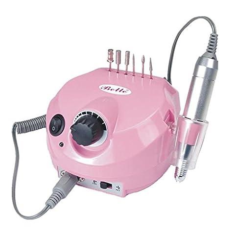 Électrique Ponceuse à ongles Machine Professional 30000RPM Manucure Pédicure Trousse Électrique Nail Art Fichier Percer Gel de guérison Vernis à ongle Outils de manucure 4 couleurs , Pink