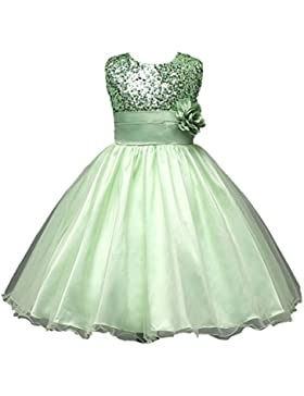 [Patrocinado]Vestidos para niñas, Dragon868 Hermosa chica del desfile de boda fiesta de cumpleaños princesa Dama de honor vestido