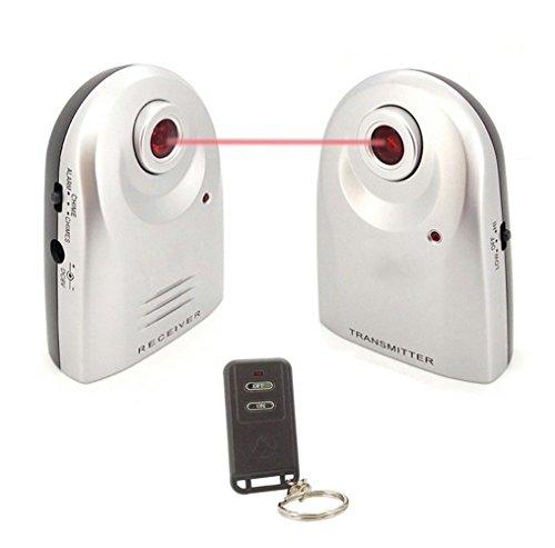 GuDoQi Inalámbrico Hogar Puerta De Seguridad Ventana De Alarma Antirrobo Detección De Movimiento Por Infrarrojos Alarma Y Timbre 2 En 1