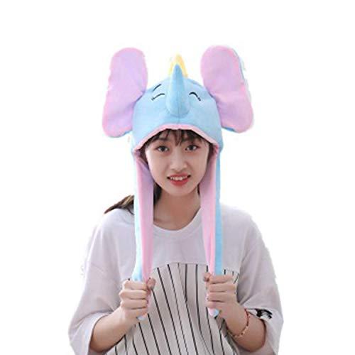 Lustiger Hut, Beweglicher Elefantenohr-Hut, Plüsch-Strickmütze, -