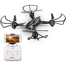 EACHINE E32HW Drone con HD cámara 720p 2.0MP Drone Cámara WiFi FPV App Control Modo sin Cabeza Quadcopter (Negro)