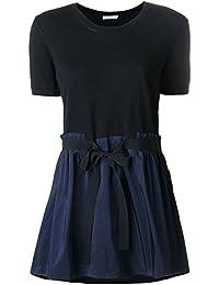 MONCLER Mujer 908250092015742 Azul Algodon T-Shirt