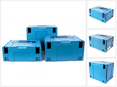 Preisvergleich Produktbild Makita Makpac Set Große 2 plus 3 plus 4 Transportbox und Werkzeugkiste, 1 Stück, MAKPACSET