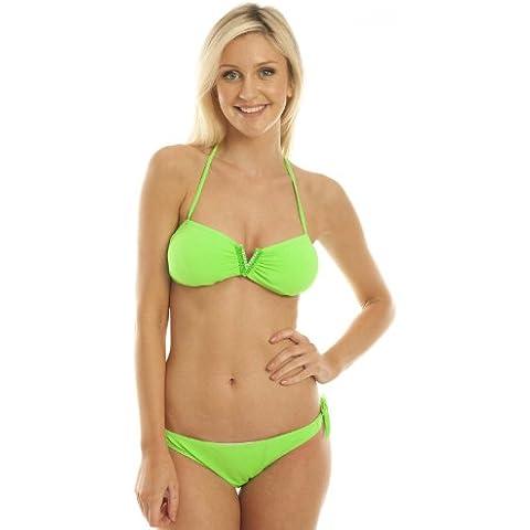 IKRUSH Womens Girls New Swimwear Neon Pink Bikini