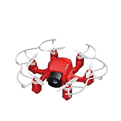 FQ777 126C Mini RC Quadcopter Drone with 2MP HD Vedio Camera 2.4Ghz 4CH 6-axis Gyro Remote Contro Headless Mode&One-key Return Function Spider Mini Drones Arerial UAV for Beginners(Red)
