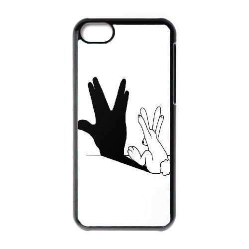 TOPDIY Customized Brand New Phone Case for iPod Touch 6 with Rabbit Hand Shadow