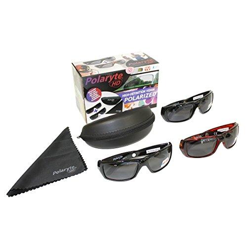 109a8666f657 2 paires de lunettes de soleil noires HD de JML Polaryte, avec protection  UV et