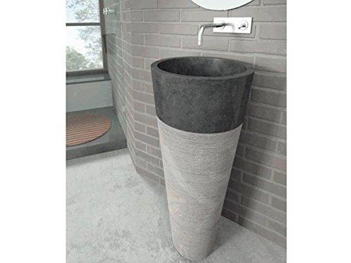 Bathco – Lavabo Bathco Con Pedestal Java Negro 400X900