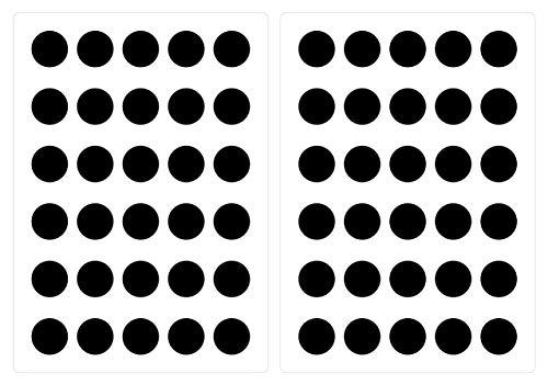dekodino Wandtattoo Kinderzimmer Wandsticker Set Schwarze Kreise Stück zum Kleben Wandta (Schwarz-wand-aufkleber)