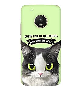 Printvisa Come Live In My Heart And Pay No Rent Designer Hard Back Case For Motorola Moto G5