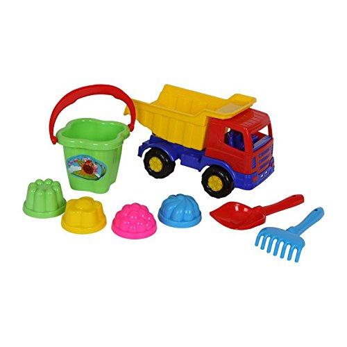 Legler 8789 - Sandspielzeug - Lastkraftwagen, 8-er Set
