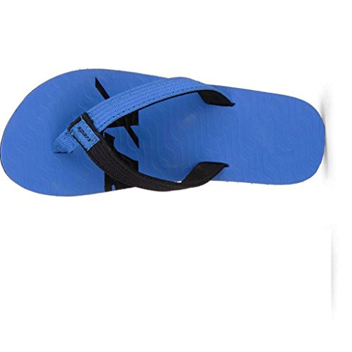 Sparx Men's SFU204 Series Blue Black Synthetic Running Slippers 9UK  available at amazon for Rs.260