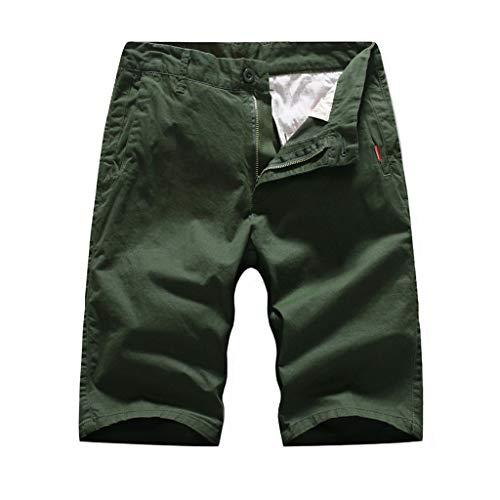 Mymyguoe Herren Short Bermuda Cargo Kurze Hose Shorts Herren Sommer Jeans Shorts Kurze Hose Sommerhose Bermuda Herren Cargo Shorts mit Dehnbund Herren Chino Shorts Bermuda Kurze Hose [Grün,30] -