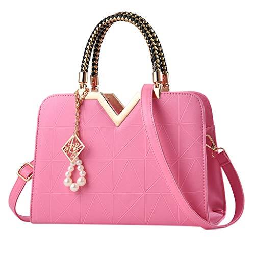 Tohole Damen Handtaschen Schulterbeutel Frauen Stilvolle Schultertasche Taschen UmhäNgetasche Geschenk Handtasche Tragetaschen(Rosa,1PC) A900 Blade