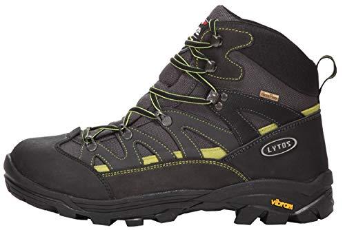 LYTOS Outdoor Tex Eiger 17 - Stivali, Colore: Antracite/Verde, Nero (Nero), 45 EU