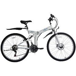 """Ecosmo Bicicleta de montaña plegable de 26"""", 21 velocidades, SHIMANO-26SF02W, bolsa de transporte"""