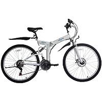 Bicicleta de montaña para mujer, Ecosmo 21SP Shimano - 26SF02BL plegable, 66 cm,