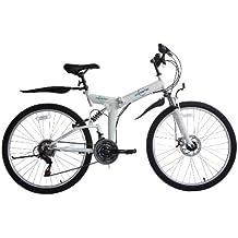 "Ecosmo 26SF02W - Bicicleta de montaña para mujer, plegable, 26"", 21SP Shimano"