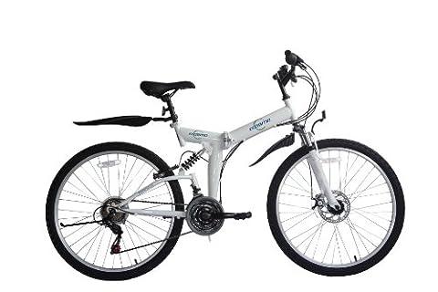 Ecosmo, vélo de montagne pliable26SF02W, 66cm VTT 21SP Shimano et un sac de transport