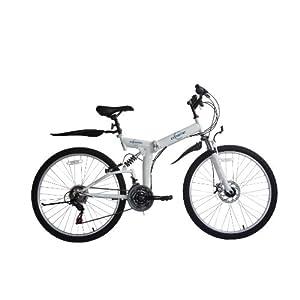 """41k4sWrCupL. SS300 Ecosmo - Mountain bike pieghevole, cambio """"Shimano"""", 21 velocità, 66 cm"""