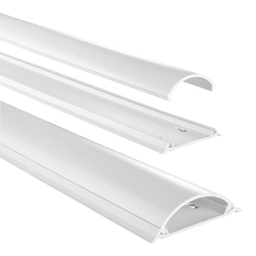 Hama Kabelkanal halbrund, selbstklebend, 100 x 7 x 2,1 cm, recycelbarer Verpackung, weiß
