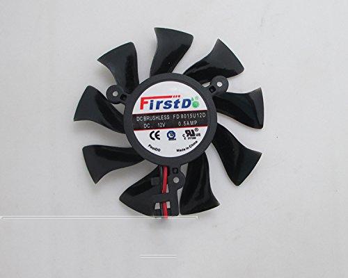 DC sans balais ventilateur 12V 0.5A 75mm 39x 39x 39mm carte graphique/carte vidéo ventilateur 2pin XFX HD6770HD6850Hd4860ventilateur de carte graphique