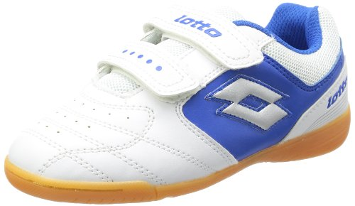 lotto-sport-unisex-child-kick-ii-cl-seu-football-shoes-white-weiss-white-blue-size-35