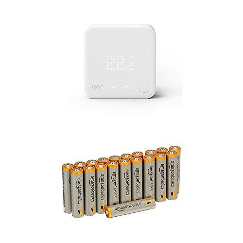 tado° Thermostat Intelligent (produit complémentaire) - contrôle de chauffage intelligent par géolocalisation via Smartphone avec les batteries AmazonBasics