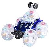 NKnk 360 Grad Schlagzeug Spielzeug Geländewagen Stunt Toy Buggy 2,4 GHz Elektro-Rc-Geländewagen mit LED-Leuchten Rad Musik Elektro-Rennspielzeug für Jungen Mädchen Kinder Erwachsene Weihnachten Kinder
