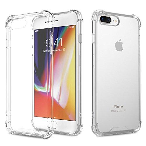 AVANA iPhone 8 Plus Hülle, iPhone 7 Plus Hülle Durchsichtige Schutzhülle Case TPU Schale Cover Kratzfest Handyhülle Klar Bumper Kantenschutz für Apple iPhone 7 Plus/iPhone 8 Plus Transparent (Iphone Klar Bumper)