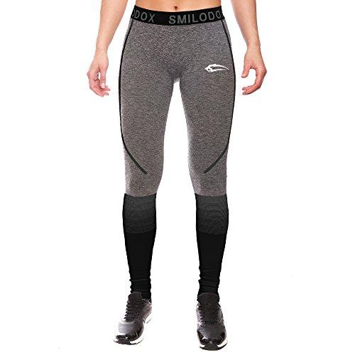 Smilodox Leggings da donna | senza cuciture–modellanti, per sport, fitness, palestra, allenamento e tempo libero antracite/nero X-Small