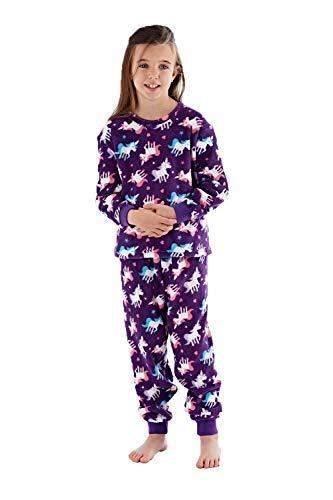 928c51836 FBA Selena Girl Kids Dory Unicorn Or Llama Print Pyjamas Purple Unicorn -  11-12