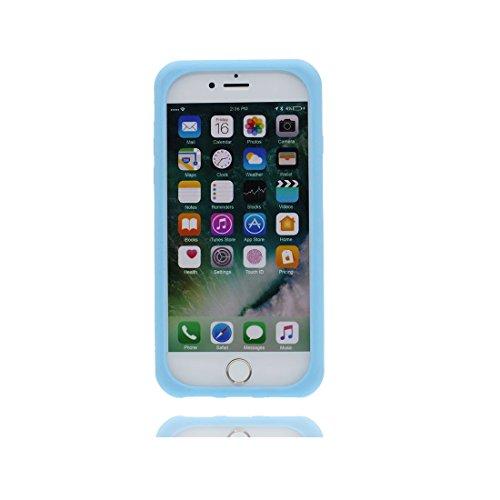 iPhone 6S Custodia, Premium TPU flessibile durevole Apple iPhone 6/6s Copertura 4.7 Case [Slim] + [Peso leggero] (3D Panda Cartoon Cover) Progettato alla moda blu 1