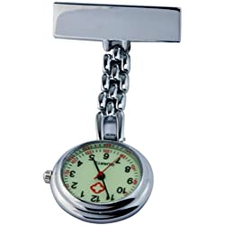 Nurse Doctor Pendant Brooch Pocket Luminous Dial Watch