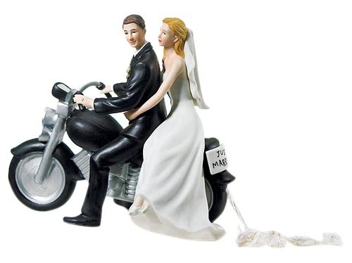 Cake topper sposi in moto - Sposo In Porcellana Wedding Cake Topper