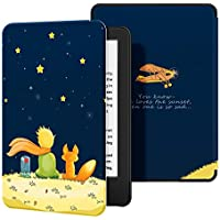 OLAIKE Estuche para Kindle (10ª generación, versión 2019) - Funda de Cuero de PU Compatible con el Kindle 2019 de Amazon (no encajará con Kindle Paperwhite o Kindle Oasis),The Boy and Fox