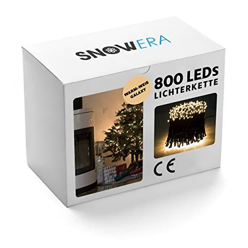 SnowEra SN-4909 Weihnachtslichterkette, Warmweiß, 800 LEDs