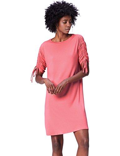 FIND Oversize Kleid Damen Rosa, 34 (Herstellergröße: X-Small) (Jersey Pink Fashion)