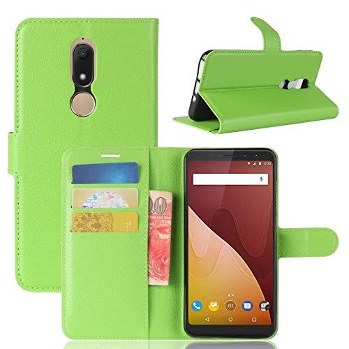 Booktasche Wallet Premium Grün für Wiko View Prime Tasche Hülle
