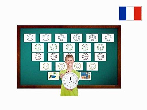 Yo-Yee Flashcards Cartes images en français - Dire l'heure - Pour l'enseignement des langues et l'encouragement linguistique dans les garderies, les jardins d'enfants et les écoles
