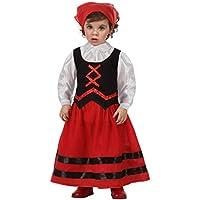 Atosa  - Disfraz de pastora rojo y negro , t 12-24 mes