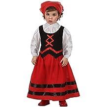 Atosa Disfraz de pastora rojo y negro, t 12-24 mes