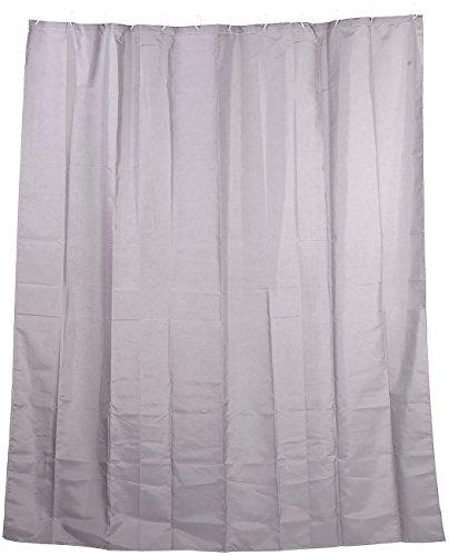 BadeStern Dusch-Vorhang: Anti-Schimmel-Duschvorhang grau, 180 x 200 cm, 12 Befestigungsringe (Vorhang für Dusche und Badewanne)