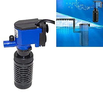 XINGRUI Filtre ZY-M2 4W 400L / H Multifonction Submersible Aquarium Pompe de Circulation Pompe de Circulation Filtre à air Filtre à air Interne, Fiche EU