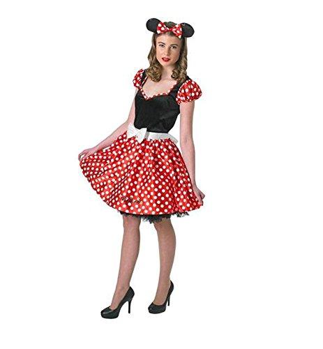 Accessoires Maus Kostüme (Rubie's Offizielles Damen-Kleid Disney Minnie Maus, Gr.)