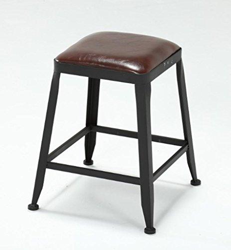 Lift Swivel Counter Hocker (Barhocker, GZD Retro Küche Hocker mit Metall Beine High Hocker Bar Hocker Leder Sitz Frühstück Bar, Höhe 45cm & 65cm & 75cm für Küche Counter Bar , 1)